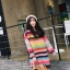 เดรสเกาหลี พร้อมส่ง มินิเดรส Rainbow thumbnail 3