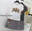 พร้อมส่ง เสื้อยืดคอกลม ปักลายนกและดอกไม้ thumbnail 10