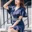 เดรสเกาหลี พร้อมส่ง เดรสสูทสีน้ำเงินแต่งระบาย thumbnail 8