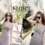 ชุดเดรสเกาหลี Maxi dress ไขว์ด้านหน้า พร้อมส่ง thumbnail 8