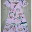 พร้อมส่ง ชุดเดรสสีชมพูพิมพ์ลายปลา thumbnail 7