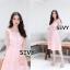 พร้อมส่ง Dress งานเรียบหรู สวย เดรสผ้าตาข่าย thumbnail 8
