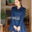 ชุดเดรสเกาหลี พร้อมส่ง เชิ้ตเดรส ผ้าเดนิมสีน้ำเงิน thumbnail 13