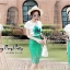 พร้อมส่ง ชุดเซตเสื้อขาวกับกระโปรงลูกไม้สีเขียว thumbnail 4