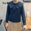 เสื้อเกาหลี พร้อมส่ง Pretty Scott Blouse เสื้อลายสก็อต thumbnail 3