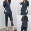 เสื้อผ้าเกาหลี เสื้อคอวี+กางเกงขายาว 7 ส่วน thumbnail 5