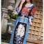 เดรสเกาหลี พร้อมส่ง Dress ปริ้นลาย thumbnail 3