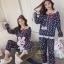 เสื้อผ้าเกาหลี พร้อมส่ง ชุดนอน Teddy Bear thumbnail 3