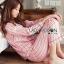 เสื้อผ้าเกาหลี พร้อมส่ง ชุดนอน เชิ้ต และกางเกงลายทาง thumbnail 3