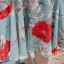 เดรสเกาหลี พร้อมส่ง ชุดเดรสผ้าชีฟอง ลายดอกไม้ thumbnail 3