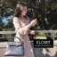 ชุดเดรสเกาหลี พร้อมส่ง Dress ผ้าไหมพรมงาน Knit thumbnail 5