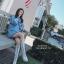 เดรสเกาหลี พร้อมส่ง มินิเดรสคอเต่า แขนผูกโบว์สีขาว thumbnail 12