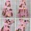 ชุดเดรสเกาหลี พร้อมส่ง Dress เปิดไหล่ ลายสัปปะรด thumbnail 5