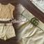 เสื้อผ้าเกาหลี พร้อมส่ง เสื้อคอปาดกับกางเกงสีครีม thumbnail 4