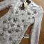 พร้อมส่ง เดรสผ้าลูกไม้สีขาวคริสตัลลายดอกไม้ thumbnail 10