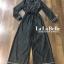 เสื้อผ้าเกาหลี พร้อมส่ง จั้มสูท กางเกงขาแปด ปกทรงสูท thumbnail 4