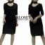เดรสเกาหลี Dress ผ้าร่องไหมพรม พร้อมส่ง thumbnail 1