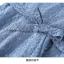 เดรสเกาหลี พร้อมส่ง เดรสผ้าลูกไม้เนื้อดี สีฟ้าเข้ม thumbnail 15