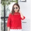 เสื้อเกาหลี พร้อมส่ง เสื้อลูกไม้ อิตาลี่ thumbnail 14