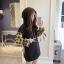 เสื้อเกาหลี พร้อมส่ง เสื้อตัวยาว ช่วงแขนลายสก๊อต thumbnail 4