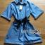 พร้อมส่ง เพลย์สูทขาสั้นผ้าคอตตอนสีฟ้า thumbnail 13