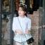 เสื้อเกาหลี คอปีนแขนสามส่วน พร้อมส่ง thumbnail 4