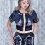 เสื้อผ้าเกาหลี Jumpsuit ขาสั้น พร้อมส่ง thumbnail 3