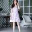 ชุดเดรสเกาหลี พร้อมส่ง mini dress สายเดี่ยว ทรงเข้ารูป thumbnail 10