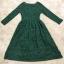 พร้อมส่ง Long dress ลูกไม้ยาว คอวี thumbnail 9