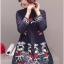 เดรสเกาหลี พร้อมส่ง เดรสสั้นทรงเอ ปักดอกไม้ thumbnail 4