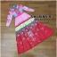 เดรสเกาหลี พร้อมส่ง ชุดเดรส เนื้อผ้าพิมพ์ลวดลาย thumbnail 7