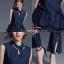 เสื้อผ้าเกาหลี พร้อมส่ง ชุด Set เสื้อคอปก thumbnail 4
