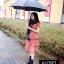 เดรสเกาหลี พร้อมส่ง Mini dress ระบายชีทู 3 ชั้น thumbnail 5