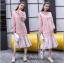 เดรสเกาหลี พร้อมส่ง Dress Hood แขนยาว thumbnail 2