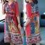 เดรสเกาหลี พร้อมส่ง Dress คอวี แขน 3 ส่วน thumbnail 5