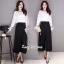 เสื้อเกาหลี พร้อมส่ง เสื้อขาวกับกางเกงขายาว thumbnail 3
