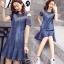 พร้อมส่ง DRESS JEAN FROM KOREA คอกลม thumbnail 1