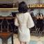 เดรสเกาหลี พร้อมส่ง เดรส ผ้าปักลายดาวลงบนผ้าตาข่าย thumbnail 5