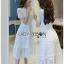 ชุดเดรสเกาหลี พร้อมส่ง ชุดเดรสผ้าลูกไม้สีขาว เล่นเลเยอร์ thumbnail 2
