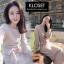 ชุดเดรสเกาหลี พร้อมส่ง Dress ผ้าไหมพรมงาน Knit thumbnail 2