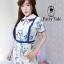 เสื้อผ้าเกาหลี พร้อมส่ง จั้มสูท คอบัวปักดอกไม้ thumbnail 5