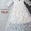 ชุดเดรสเกาหลี พร้อมส่ง Dress ผ้าปักดอก 3 D thumbnail 4