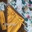 พร้อมส่ง เสื้อลายดอกไม้กับกางเกงสีเหลือง thumbnail 2