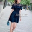 เดรสเกาหลี พร้อมส่ง Dress ชุดกระโปรงสีกรม thumbnail 4