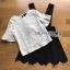 พร้อมส่ง เดรสเอี้ยมผ้าเครปสีดำทรง scallop thumbnail 6