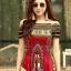 ชุดเดรสเกาหลี พร้อมส่ง Dress ผ้าฝ้ายผสมลินิน พิมพ์ลาย thumbnail 4