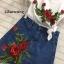 พร้อมส่ง เซ็ทเสื้อยืดงานปักลายดอกไม้ ลายนูน thumbnail 5