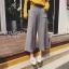 พร้อมส่ง กางเกงผ้า knit สไตล์เกาหลี thumbnail 8