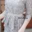 เดรสเกาหลี พร้อมส่ง Dress ลูกไม้เอวระบาย thumbnail 17