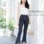 พร้อมส่ง กางเกงยีนส์ เอวสูง ขาม้าห้าส่วน thumbnail 4